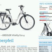 Fragment recenzji roweru Kreidler Vitality Eco 4