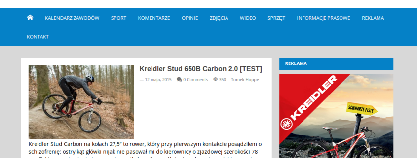 Fragment recenzji roweru Kreidler Stud 650B Carbon 2.0