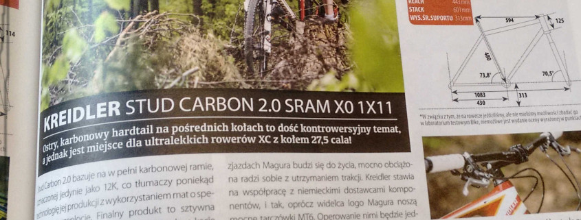 Fragment recenzji roweru Kreidler Stud 650 Carbon 2.0
