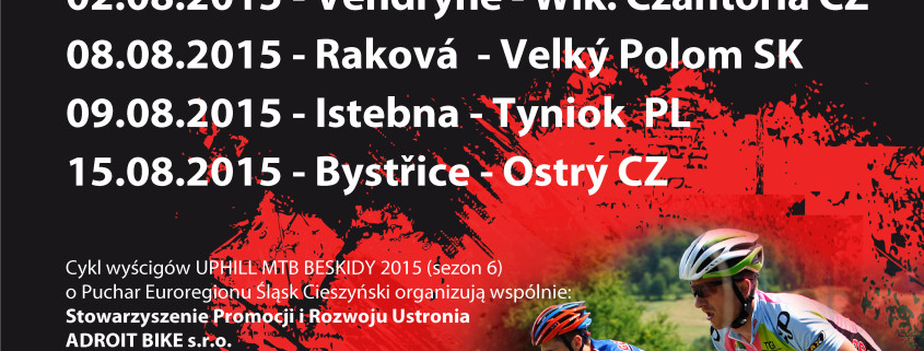 PLAKAT UPHILL MTB BESKIDY 2015