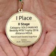 Medal za wygraną w II etapie Beskidy MTB Trophy 2016 (fot. Katarzyna Serafin) FB