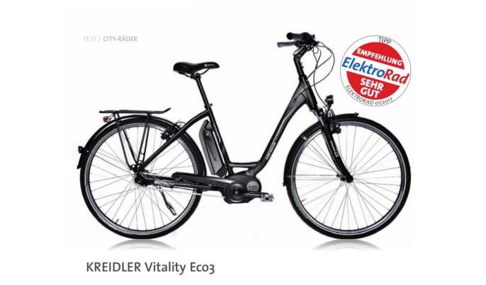 www Fragment recenzji roweru Kreidler Vitality Eco 3
