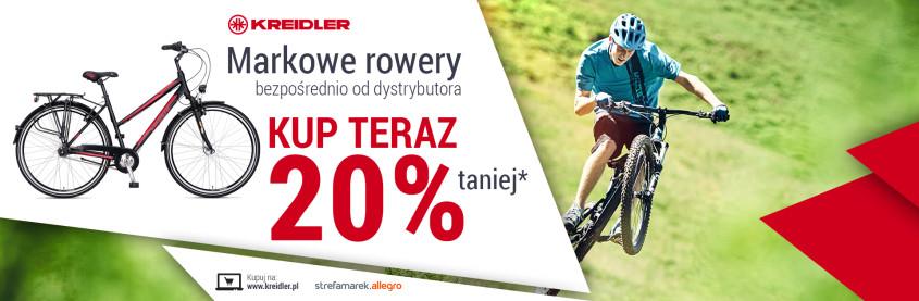 Markowe rowery Kreidler 20% taniej