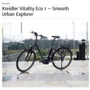 www Fragment recenzji roweru Kreidler Vitality Eco 1