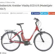 www Fragment recenzji roweru Kreidler Vitality Eco 6